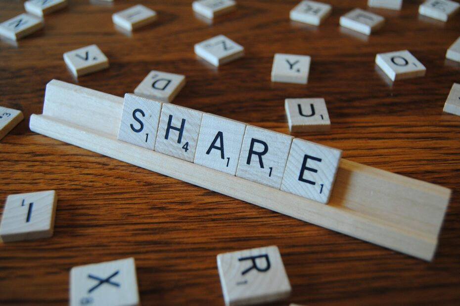 Word share in a scrable game