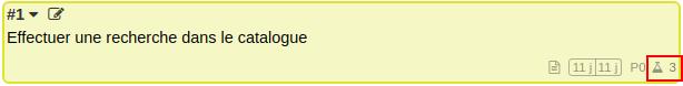 Image montrant le nouveau tag du nombre de Gherkin d'une tâche